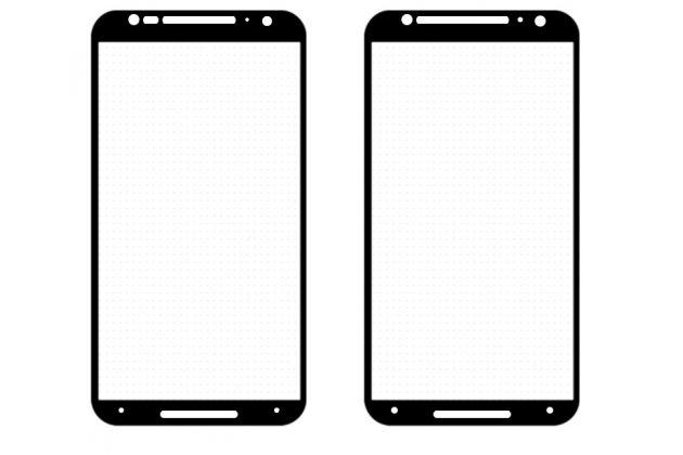 Фирменное 3D защитное изогнутое стекло с закругленными изогнутыми краями которое полностью закрывает экран / дисплей по краям с олеофобным покрытием для Motorola Moto X1  / X2 (XT1085 / XT1097)
