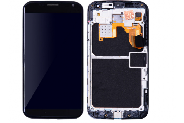 Фирменный LCD-ЖК-сенсорный дисплей-экран-стекло в сборе с тачскрином на телефон Motorola Moto X1  / X2 (XT1085 / XT1097) черный + гарантия