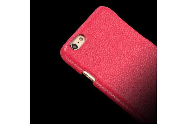 Фирменная роскошная задняя панель-крышка обтянутая импортной кожей для Motorola Moto X1  / X2 (XT1085 / XT1097) красная