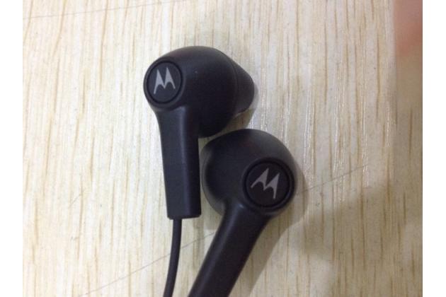 Фирменные оригинальные наушники-вкладыши Motorola Moto X1  / X2 (XT1085 / XT1097) с микрофоном и переключателем песен