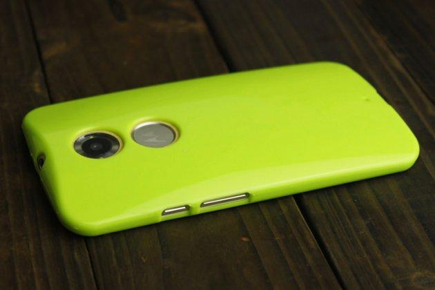 Фирменная ультра-тонкая полимерная из мягкого качественного силикона задняя панель-чехол-накладка для Motorola Moto X1  / X2 (XT1085 / XT1097) зеленая