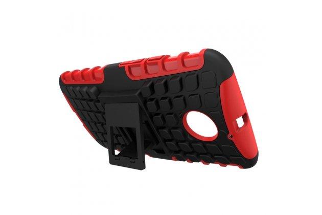 Противоударный усиленный ударопрочный фирменный чехол-бампер-пенал для Motorola Moto X1  / X2 (XT1085 / XT1097) красный