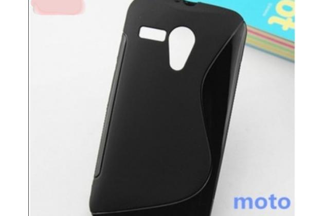 Фирменная ультра-тонкая полимерная из мягкого качественного силикона задняя панель-чехол-накладка для Motorola Moto G1 8Gb / Motorola Moto G1 Dual Sim 16Gb (XT1033 / XT1032 / XT1034) черная