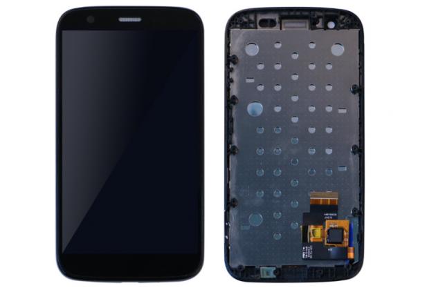Фирменный LCD-ЖК-сенсорный дисплей-экран-стекло в сборе с тачскрином на телефон Motorola Moto G1 8Gb / Motorola Moto G1 Dual Sim 16Gb (XT1033 / XT1032 / XT1034) черный + гарантия