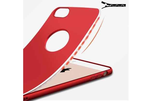 Фирменный уникальный чехол-бампер-панель с полной защитой дисплея и телефона по всем краям и углам для iPhone 5S красный