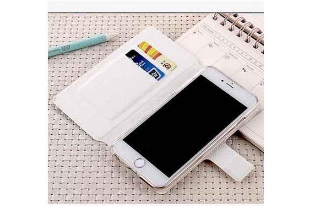 Фирменный уникальный необычный чехол-подставка для iPhone 5S  тематика Алый цветок