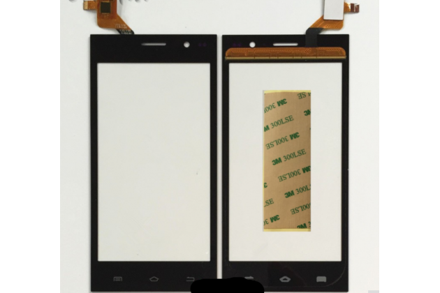 Фирменное сенсорное-стекло-тачскрин на Highscreen Zera S Power черный + инструменты для вскрытия + гарантия