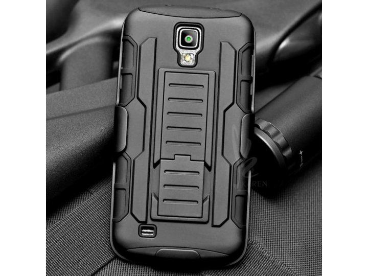 Противоударный усиленный ударопрочный фирменный чехол-бампер-пенал с держателем для Samsung Galaxy S4 Active G..