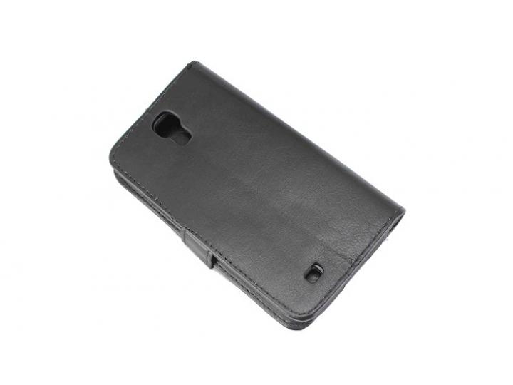 Фирменный чехол-книжка из качественной импортной кожи с мульти-подставкой застёжкой и визитницей для Samsung G..