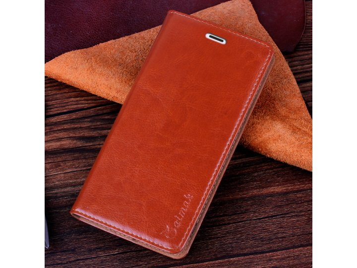 Фирменный чехол-книжка из качественной импортной кожи с мульти-подставкой и визитницей для Samsung Galaxy Win ..