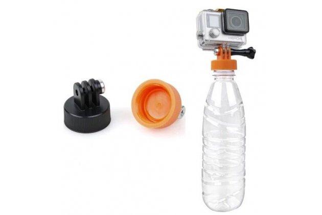 Крышка адаптер поплавок на любую пластиковую бутылку для крепления портативной спортивной экшн-камеры