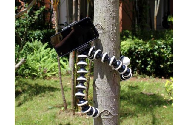 Мини-штатив осьминог на шарнирах гибкий селфи-палка прорезиненные ножки обеспечивают превосходное сцепление