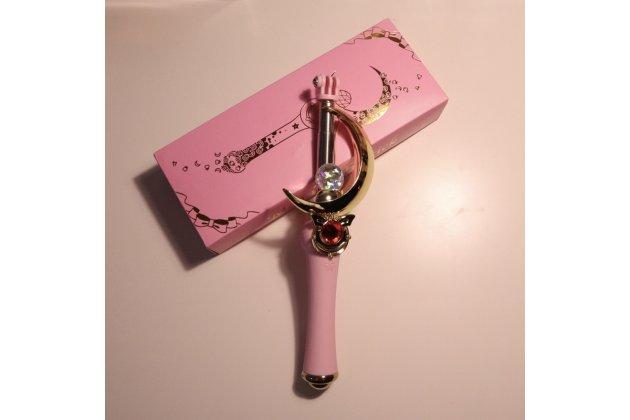 """Волшебная красивая для девочек со стразами селфи-палка с дизайном из аниме Сейлор Мун/ Sailor Moon """"Лунная палочка"""" проводная не требующая подзарядки"""