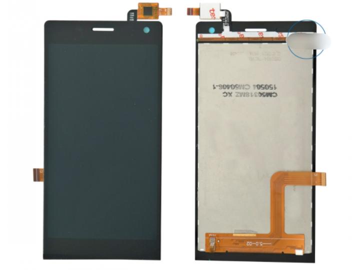 Фирменный LCD-ЖК-сенсорный дисплей-экран-стекло в сборе с тачскрином на телефон Highscreen Verge черный + гара..