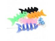 """Фирменные силиконовый прочный антизапутыватель для кабеля/наушников """"Волшебная рыбка"""" (в комплекте 2 шт)"""