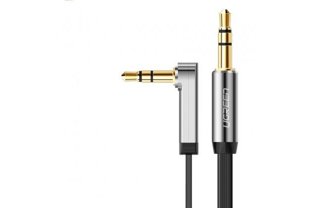 Фирменный UGREEN аудио-кабель AUX jack 3.5 (m) - jack 3.5 (m) (г-образный) 1м