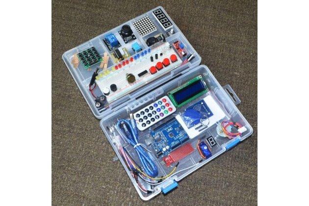 """Обучающий набор Arduino UNO R3 Starter Kit обновленная версия с RFID модулем для начинающих в пластиковом кейсе """"Kit №1"""""""