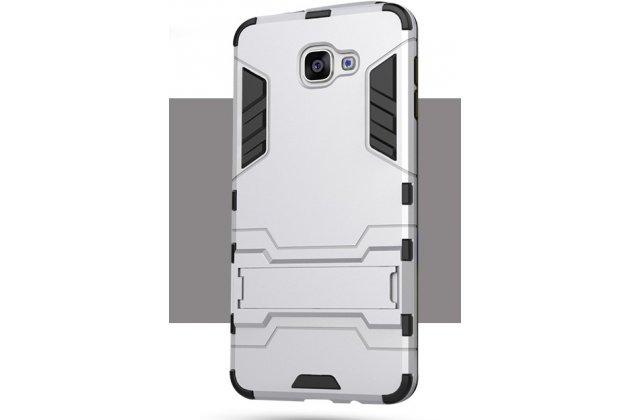 Противоударный металлический чехол-бампер из цельного куска металла с усиленной защитой углов и необычным экстремальным дизайном для Motorola Moto G3 Gen.3 (XT1550/ XT1548) серебристого цвета
