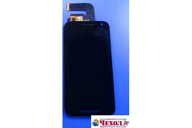 Фирменное сенсорное-стекло-тачскрин на Motorola Moto G3 Gen.3 (XT1550/ XT1548) черный + инструменты для вскрытия + гарантия