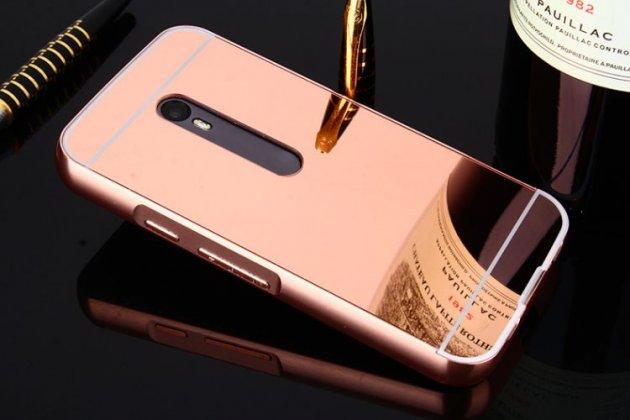 Фирменная металлическая задняя панель-крышка-накладка из тончайшего облегченного авиационного алюминия для Motorola Moto G3 Gen.3 (XT1550/ XT1548) розовое золото