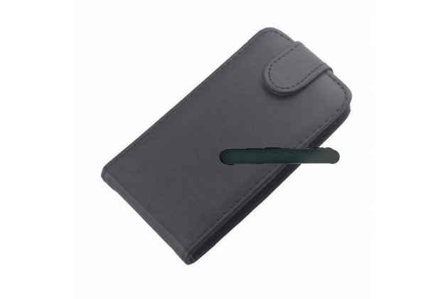 Фирменный оригинальный вертикальный откидной чехол-флип для Motorola Moto E (XT1021/ XT1022/ XT1025) / Motorola Moto E Dual sim черный из натуральной кожи Prestige