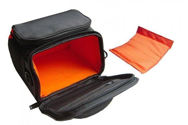 Фирменный чехол-сумка-бокс для фотоаппарата Olympus DZ-105/E-1/E-3/ E-30/E-300/E-330/E-400/E-410/E-420/E-450/E-5 с отделением для дополнительных аксессуаров из высококачественного материала