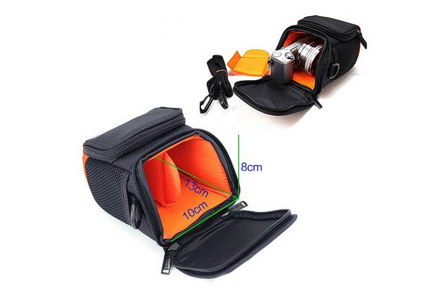 Фирменный чехол-сумка-бокс для фотоаппарата Olympus VR-360/VR-370/X-560WP/XZ-1/XZ-10/XZ-2 с отделением для дополнительных аксессуаров из высококачественного материала