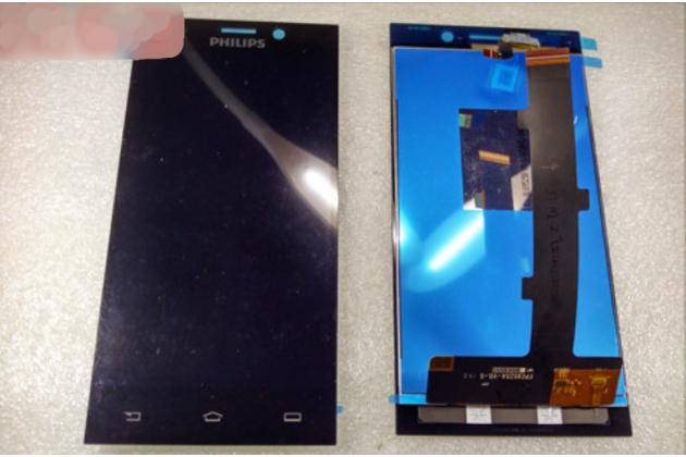 Фирменный LCD-ЖК-сенсорный дисплей-экран-стекло в сборе с тачскрином на телефон Philips Xenium V787 черный + гарантия