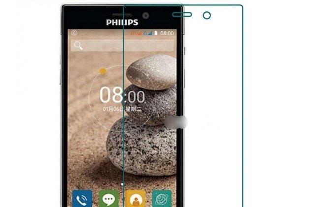 Фирменная оригинальная защитная пленка для телефона Philips Xenium V787 глянцевая