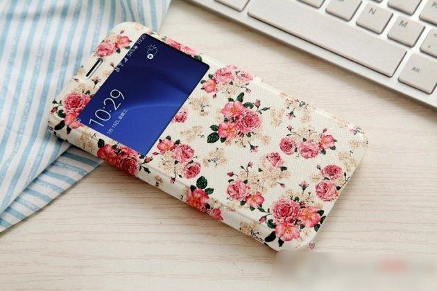 Фирменный уникальный необычный чехол-подставка для Samsung Galaxy A8 2016 SM-A800x  тематика Королевские цветы