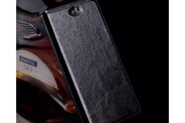 Фирменный премиальный чехол-книжка из качественной импортной кожи с мульти-подставкой для Motorola Moto X Force (XT1585 / XT1581) 32Gb/ 64Gb  черный