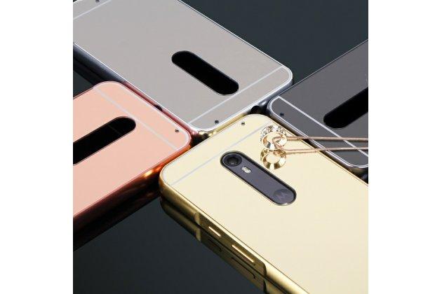 Фирменная металлическая задняя панель-крышка-накладка из тончайшего облегченного авиационного алюминия для Motorola Moto X Force (XT1585 / XT1581) 32Gb/ 64Gb серебристый