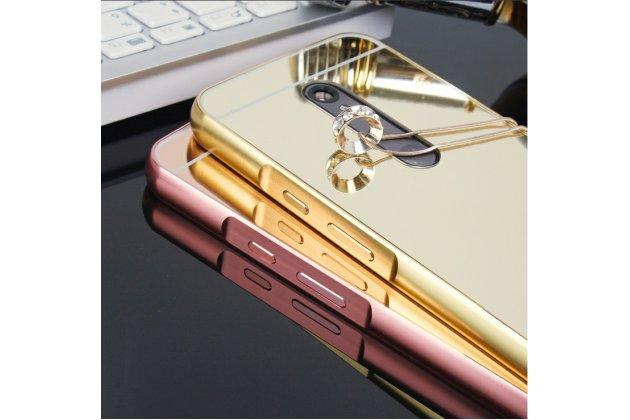 Фирменная металлическая задняя панель-крышка-накладка из тончайшего облегченного авиационного алюминия для Motorola Moto X Force (XT1585 / XT1581) 32Gb/ 64Gb золотая