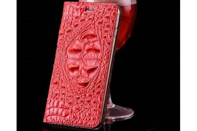 Фирменный роскошный эксклюзивный чехол с объёмным 3D изображением рельефа кожи крокодила красный для Motorola Moto X Force (XT1585 / XT1581) 32Gb/ 64Gb Только в нашем магазине. Количество ограничено