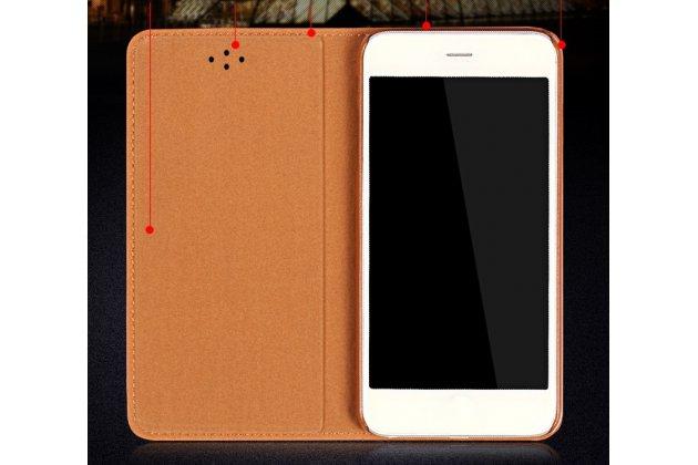 Фирменный премиальный чехол-книжка из качественной импортной кожи с мульти-подставкой для Motorola Moto X Force (XT1585 / XT1581) 32Gb/ 64Gb красный