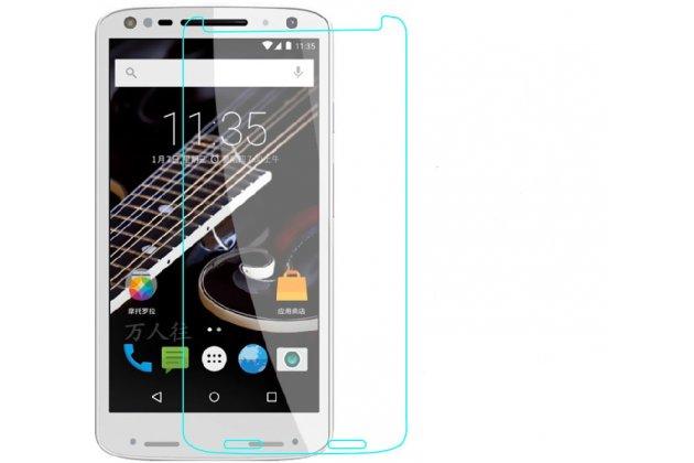 Фирменное защитное закалённое противоударное стекло для телефона Motorola Moto X Force (XT1585 / XT1581) 32Gb/ 64Gb из качественного японского материала премиум-класса с олеофобным покрытием