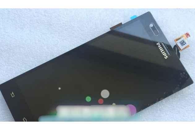 Фирменный LCD-ЖК-сенсорный дисплей-экран-стекло в сборе с тачскрином на телефон Philips S616 черный + гарантия