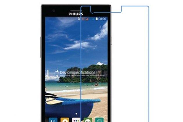 Фирменная оригинальная защитная пленка для телефона Philips S616 глянцевая