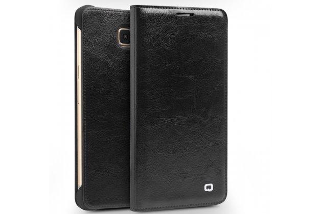 Фирменный премиальный элитный чехол-книжка из качественной импортной кожи с мульти-подставкой и визитницей для Samsung Galaxy A7 2016 / A7100 / A710F / A7  5.5 черный
