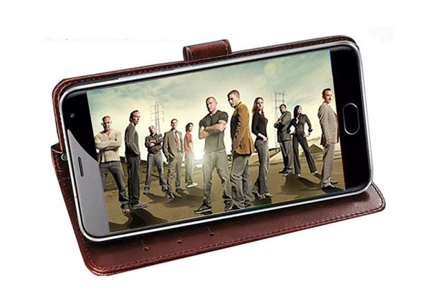 Фирменный чехол-книжка из качественной импортной кожи с подставкой застёжкой и визитницей для Motorola Moto X Play (XT1561 / XT1562) черный