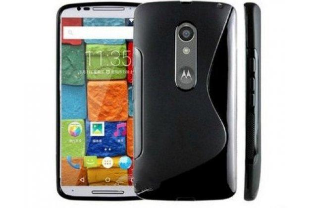 Фирменная ультра-тонкая полимерная из мягкого качественного силикона задняя панель-чехол-накладка для Motorola Moto X Play (XT1561 / XT1562) черная