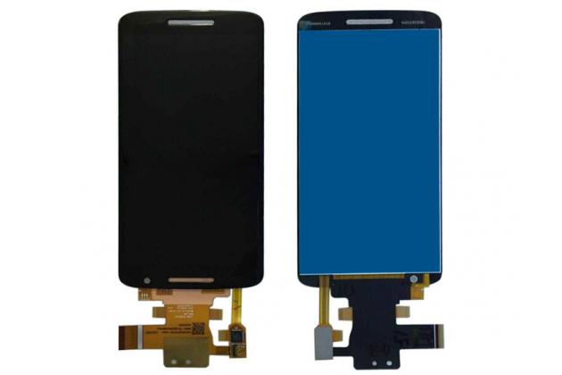 Фирменный LCD-ЖК-сенсорный дисплей-экран-стекло в сборе с тачскрином на телефон Motorola Moto X Play (XT1561 / XT1562) черный + гарантия
