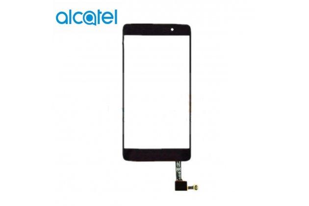 Фирменное сенсорное-стекло-тачскрин на Alcatel One Touch Idol 4 5.2 6055K черный + инструменты для вскрытия + гарантия