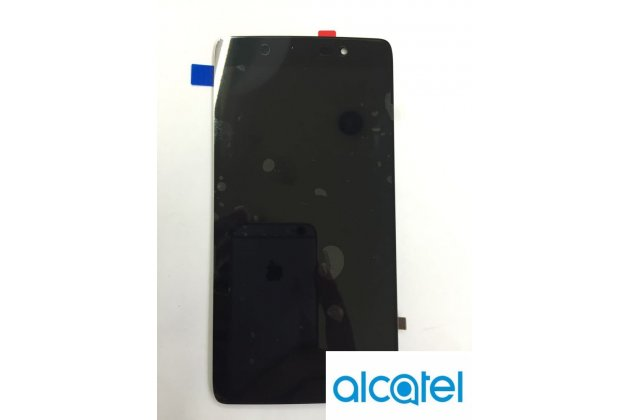 """Фирменный LCD-ЖК-сенсорный дисплей-экран-модуль запчасть в сборе с тачскрином на телефон Alcatel One Touch Idol 4 5.2"""" 6055K черный + гарантия"""