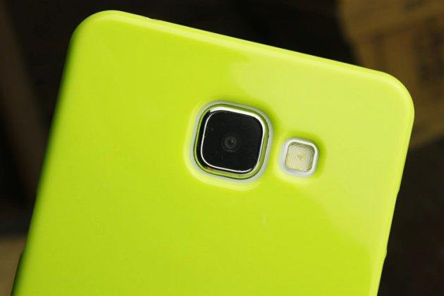 Фирменная ультра-тонкая полимерная из мягкого качественного силикона задняя панель-чехол-накладка для Samsung Galaxy A3 (2016) SM-A310/ A3100/ A310F 4.7 зеленая