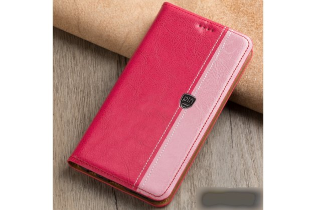 Фирменный премиальный элитный чехол-книжка из качественной импортной кожи с мульти-подставкой и визитницей для Samsung Galaxy J3 (2016) SM-J320F/DS/J320H/DS  розовый