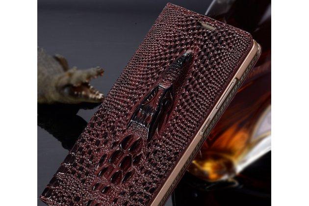 Фирменный роскошный эксклюзивный чехол с объёмным 3D изображением кожи крокодила цвет красное вино для Samsung Galaxy J3 (2016) SM-J320F/DS/J320H/DS  Только в нашем магазине. Количество ограничено