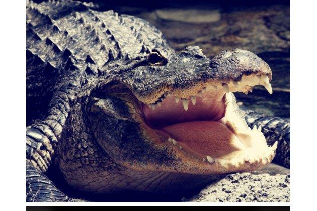 Фирменный роскошный эксклюзивный чехол с объёмным 3D изображением рельефа кожи крокодила синий для Samsung Galaxy J3 (2016) SM-J320F/DS/J320H/DS . Только в нашем магазине. Количество ограничено