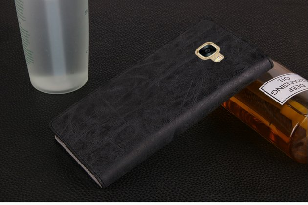 """Фирменный премиальный элитный чехол-книжка из качественной импортной кожи с мульти-подставкой и визитницей для iPhone 7 Plus / iPhone 8 Plus """"Ретро"""" черный"""