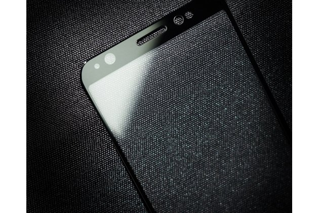 Фирменное 3D защитное изогнутое стекло с закругленными изогнутыми краями которое полностью закрывает экран / дисплей по краям с олеофобным покрытием для Asus Zenfone Max Pro (ZB602KL /ZB601KL)